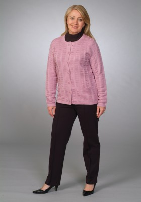 Basket Weave Jacket and Ponte Pant
